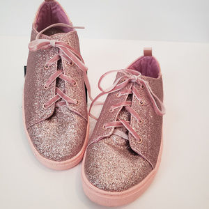 TOMS girls pink glitter sneakers Size 4